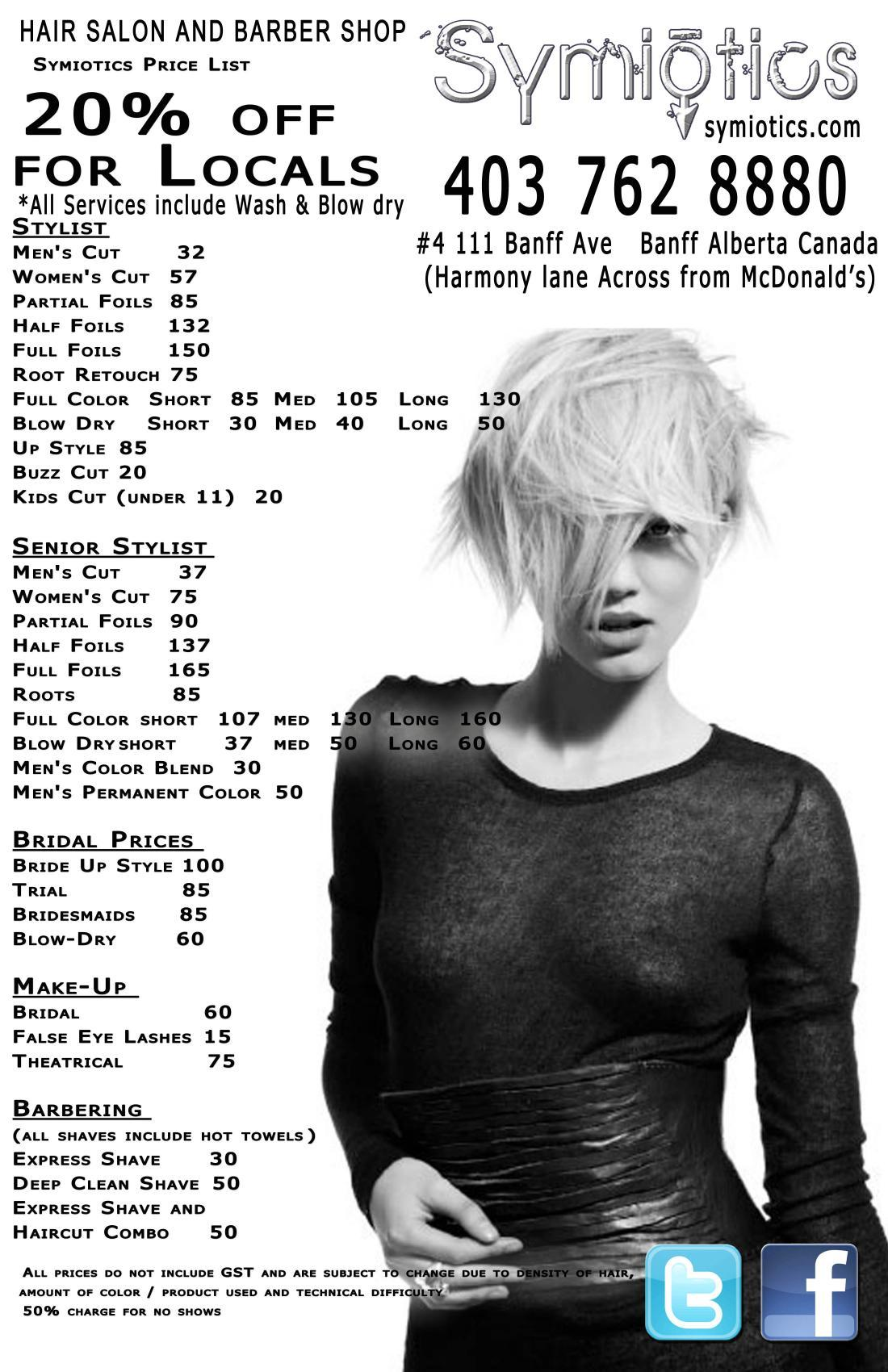 Banff Hair Salon Barber Symiotics Pricelist 2017 Ch 1531 Jpg Home Price List